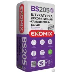 Штукатурка камешковая белая Ekomix BS 205 (25кг)