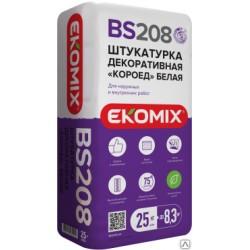 Штукатурка короед белая Ekomix BS 208 (25 кг)