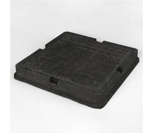 Люк канализационный квадратный 1,5 т ЛМ (А 15)