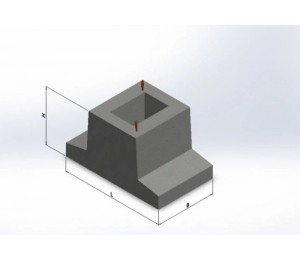 Блок фундаментный Ф-3