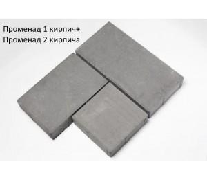Плитка Променад 1 кирпич серая 60 мм