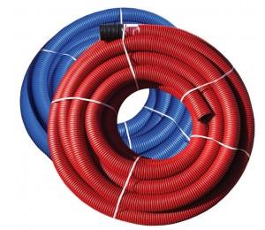 Труба защитная двустенная NПНД/ПВД 63мм красная 50 м