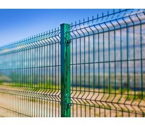 3d забор секционный Стандарт 2,5х2 м,4 мм толщ, 200х50 мм ячейка (зеленый)